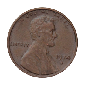 1 cent 1974 D USA st.III a