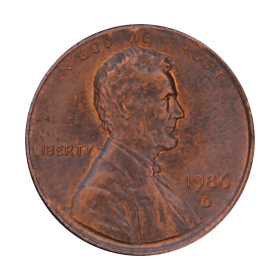 1 cent 1986 D USA st.III a
