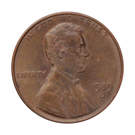1 cent 1989 D USA st.III a