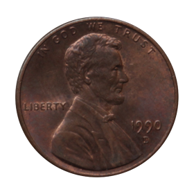 1 cent 1990 D USA st.III b