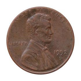 1 cent 1992 D USA st.III a
