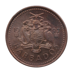 1 cent 1997 Barbados st.II a