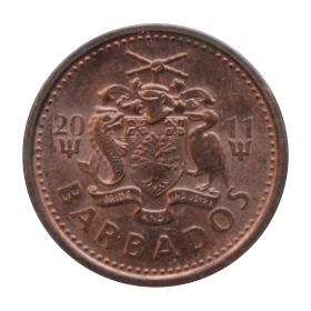 1 cent 2011 Barbados st.II a