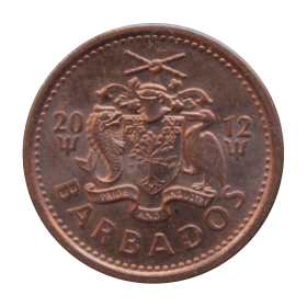 1 cent 2012 Barbados st.II+ a