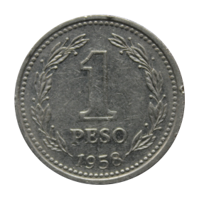 1 peso 1958 Argentyna st.III a