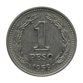 1 peso 1959 Argentyna st.III a
