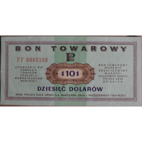 10 dolarow 1969 pko a7