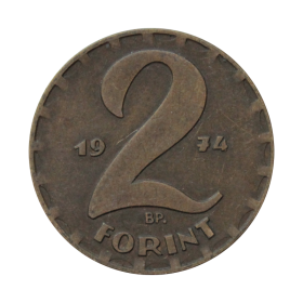 2 forinty 1974 Węgry st.III a