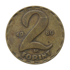 2 forinty 1980 Węgry st.III a