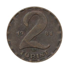 2 forinty 1981 Węgry st.III a